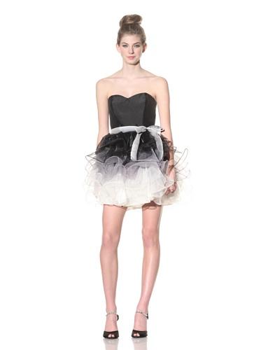 Betsey Johnson Women's Sable Party Dress (Black/Cream)