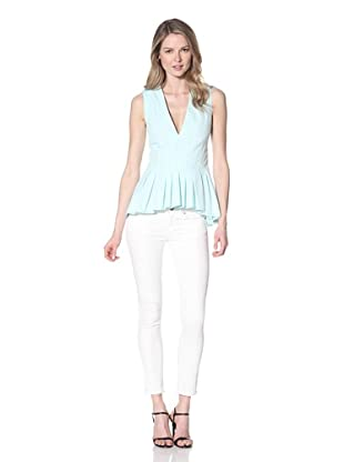 Thakoon Women's Seamed V-Neck Top (Light Blue)