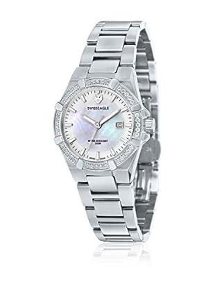 Swiss Eagle Uhr mit Schweizer Quarzuhrwerk Glide silberfarben 34 mm