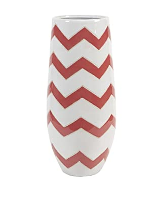 Essentials Chevron Vase, Melon Sorbet
