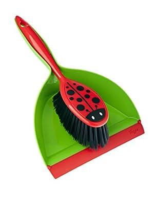 Vigar Kehrbesen 2 tlg. Set Ladybug grün/rot