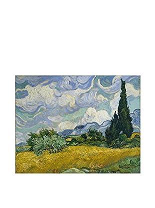 LegendArte  Wandbild Weizenfeld mit Zypressen von Vincent Van Gogh