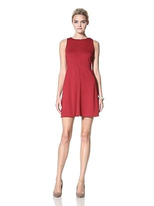Donna Morgan Women's Solid Millie Dress (Cranberry)
