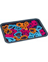 """Bakers Wave Cookie Sheet with 22 Cookie Cutters 17"""" x 11.5"""" BW44009 [A-to-Z Deals]"""