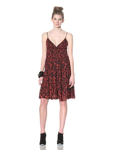 Betsey Johnson Women's Stretch Mesh Slip Dress (Leopard)