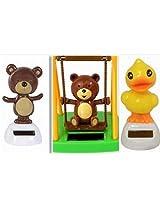 Solar Animals: A Bear, A Duck & A Bear On A Swing