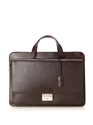 Calvin Klein Collection Men's Briefcase (Dark Brown)