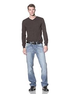 William Rast Men's Jake Regular Straight Jean (T-Stone)