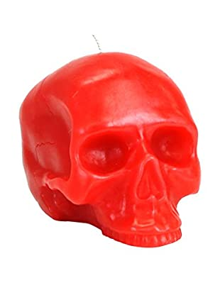 D.L. & Co. Medium Red Skull Candle