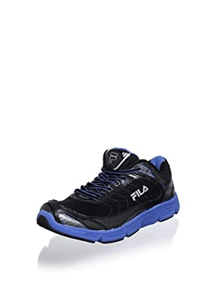 Fila Men's Stencil Lite Running Shoe (Black/Campanula/Silver)