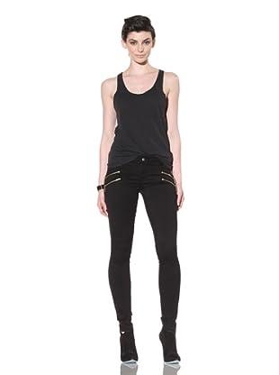 Workcustom Women's Mamba Sateen Skinny Jeans (Black)