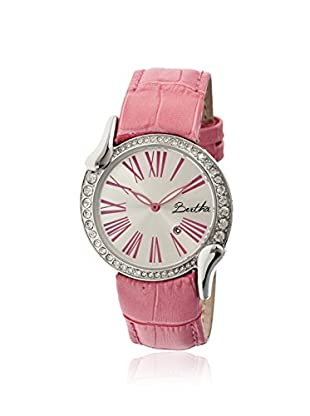 Bertha Women's BR2506 Olive Light Pink/Silver Leather Watch