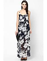 Black And White Floral Maxi SISTER'S POINT