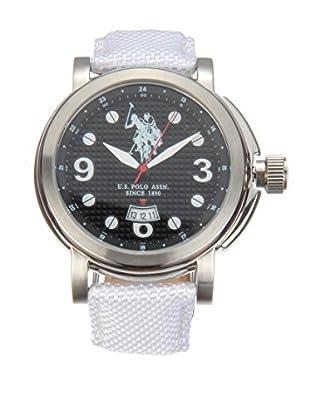 U.S. POLO ASSN. Uhr mit japanischem Quarzuhrwerk Attitude weiß 45 mm