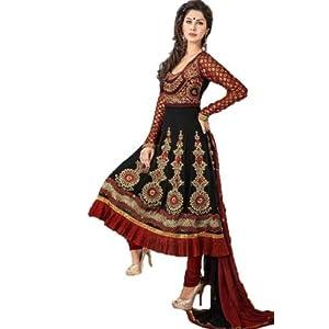 Black Zari Work Anarkali Suit