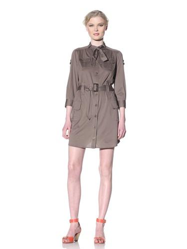 Moschino Cheap and Chic Women's Camp Shirt Dress (Taupe)