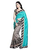 Shree Sanskruti Bhagalpuri Art Silk Sari With Lace Border