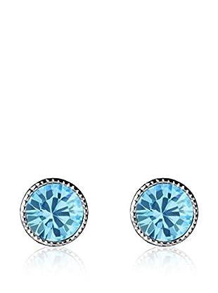 Absolute Crystals Ohrring Mini Dot aquamarin