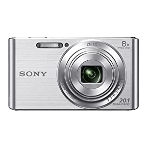 Sony Cybershot DSC-W830/S 20.1MP Digital Camera ( Silver) with 8x Optical Zoom, Memory Card and Camera Case