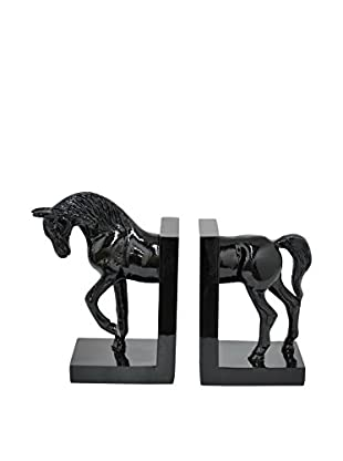 Three Hands Black Horse Bookends