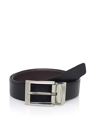 Calvin Klein Men's Smooth Leather Reversible Belt (Black/brown)