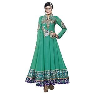 Prafful Women Faux Georgette Dress Material (Gs82716 _Green _Free Size)