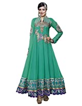 Prafful Women Faux Georgette Dress Material (Gs82716 _Green _Free Size)