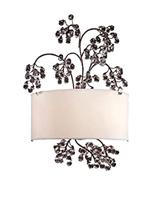 Artistic Lighting Winterberry 2-Light Sconce, Antique Darkwood