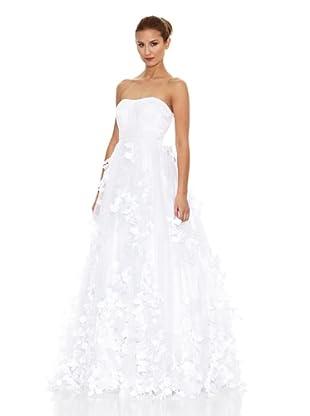KOTOSH Vestido de Novia en Satén de Tul y Muselina (Blanco)