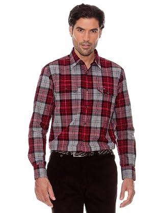 Pedro Del Hierro Camisa Cuadros (Granate)