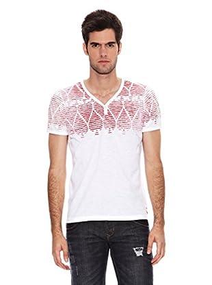 Six Valves Camiseta Manga Corta (Blanco / Rojo)