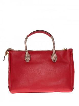 Elysa Tote-Bag mit Reptil-Details (Rot)
