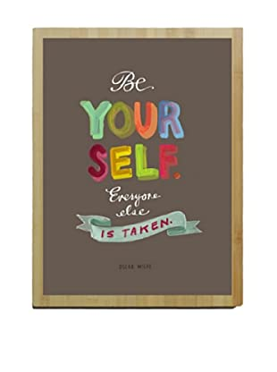 Artehouse Be Yourself Bamboo Wood Sign
