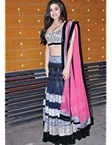 Ethnic Trend Cotton Silk Party Bollywood Replica Lehenga Saree - 157 (Grey)