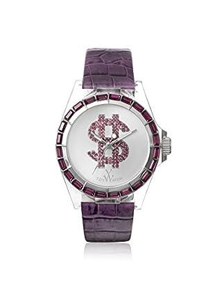 ToyWatch Women's D12PR Purple/White Polycarbonate Watch