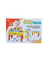 Children's Multi-Fun Block Building + Study Table (Large, multicolor)