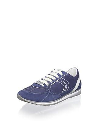 Geox Women's Wisdom Fashion Sneaker (Blue)