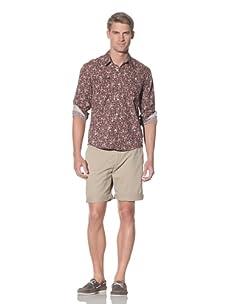 Rhythm Men's Ditz Woven Long Sleeve Shirt (Brown)