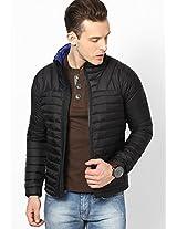 Black Full Sleeve Bomber Jacket