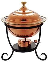 Old Dutch 12Â¿ x 15Â¿ Round Decor Copper Chafing Dish, 3 Qt