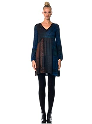 Eccentrica Maxi Vestido (marrón/azul)