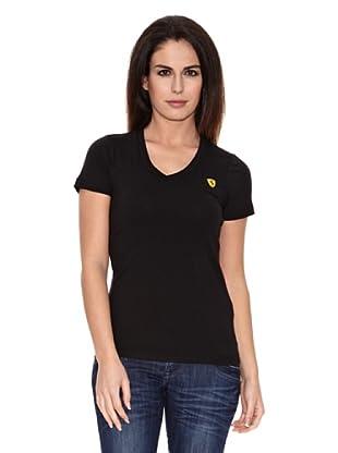 Ferrari Camiseta V-neck (Negro)