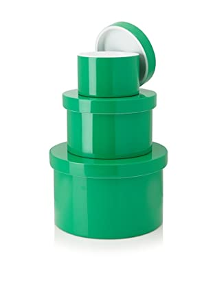 Mili Designs Set of 3 Lidded Canisters (Green)
