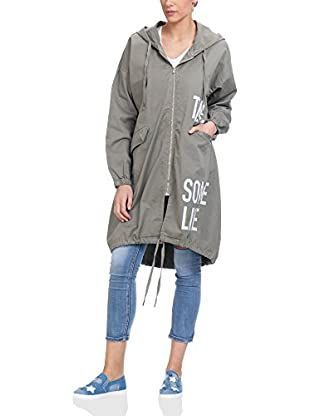 Tantra Trenchcoat Long With Print Words With Hood