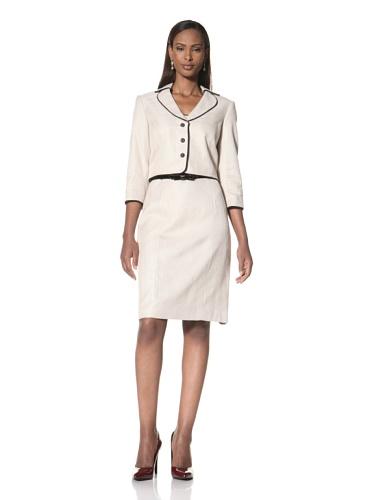 Tahari by A.S.L. Women's Long Sleeve Jacket with Dress (Beige)