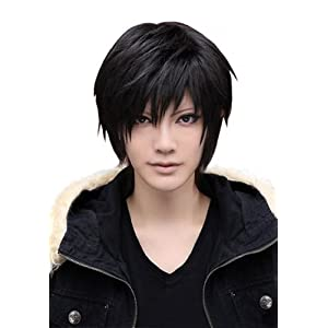 26 Colors Short Universal Men toupee Anime Costumes Cosplay Hair Wig Full Wigs Black AD