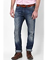 Blue Low Rise Slim Fit Jeans Tommy Hilfiger