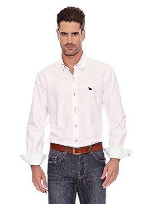Toro Camisa Tejido Oxford (Rosa / Blanco)