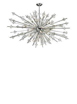 Artistic Lighting Starburst Collection 31-Light Chandelier, Polished Chrome