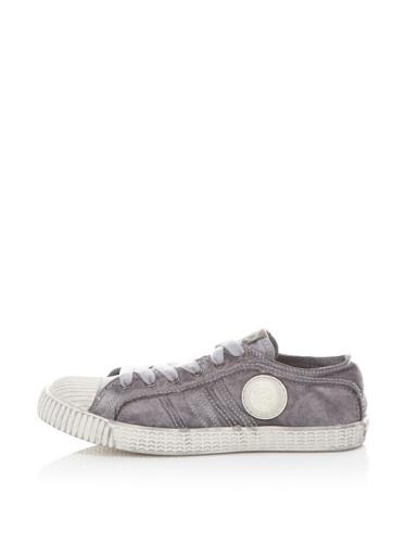Diesel Kids Yuk & Net Lace-Up Sneaker (Dark Grey)